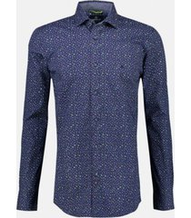 overhemd stretch print navy (2091330 - 489)