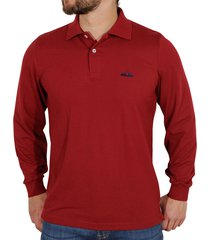 camiseta polo manga larga slim fit-vinotinto polovers