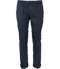 dondup gaubert: slim-fit gabardine trousers
