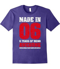 11th birthday gift t-shirt made in 2006 awesome 11 years old men