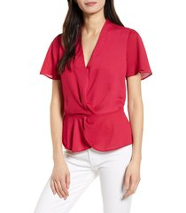women's chelsea28 tuck front top, size x-small - red