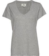 becka v-neck tee t-shirts & tops short-sleeved grå lexington clothing