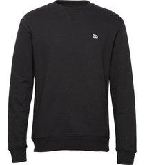 plain crew sws sweat-shirt tröja svart lee jeans