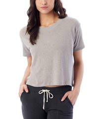 alternative apparel headliner vintage-like women's jersey cropped t-shirt