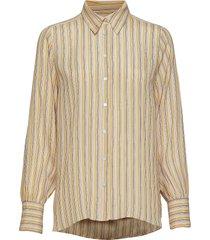 go shirt blouse lange mouwen geel second female