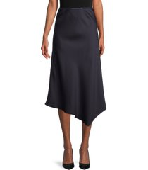 french connection women's maudie midi skirt - utility blue - size m