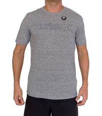 camiseta hurley oao drifit para hombre - gris plateado