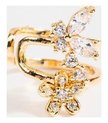 ada butterfly & flower ear cuff - gold