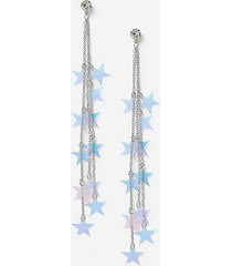 *christmas star sequin drop earrings - pink