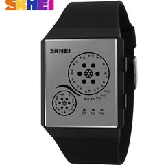 hombres y mujeres = reloj impermeable led-negro