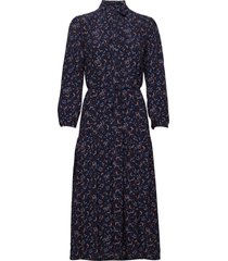 d1. multi floral shirt dress jurk knielengte blauw gant