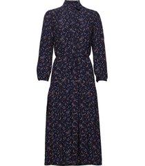 d1. multi floral shirt dress jurk knielengte blauw gant