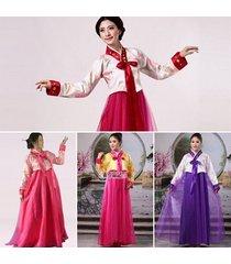 formal wrap around korean traditional hanbok women lady dress stage costume