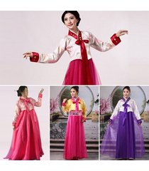 formal wrap around korean traditional hanbok women lady dress stage costume