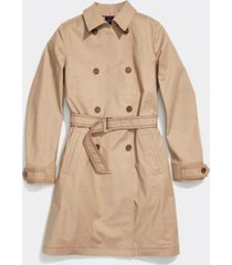 tommy hilfiger women's adaptive classic trench coat travertine - xs