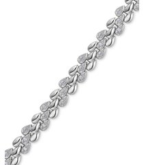 diamond link bracelet (1/4 ct. t.w.) in sterling silver