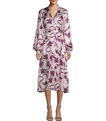 andrese floral silk wrap dress