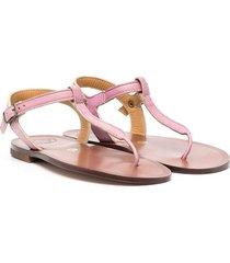 pèpè thong patent-leather sandals - pink