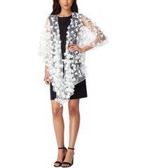tahari asl sheer embellished shawl