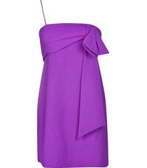 dondup rear zip bow dress