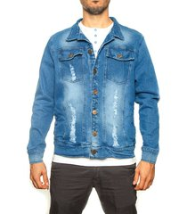 chaqueta frank pierce jean attitude bj2001 - azul