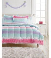 dream factory tie dye stripe comforter bed in a bag, twin bedding