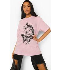 oversized vlinder t-shirt, lilac