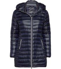 essential lt down coat gevoerde lange jas blauw calvin klein