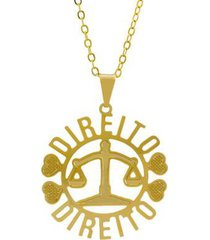 gargantilha horus import direito banhada ouro 18k feminina