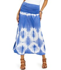 style & co petite tie-dyed convertible skirt, created for macy's