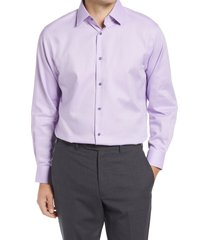 men's big & tall nordstrom traditional fit non-iron dress shirt, size 18.5 - 36/37 - purple