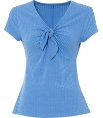 maglia a costine con fiocco (blu) - bodyflirt
