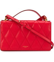 givenchy stitched crossbody bag - red