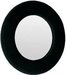 lustro ścienne welurowe okrągłe czarne