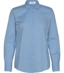 blouse long-sleeve overhemd met lange mouwen blauw gerry weber edition