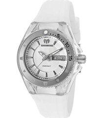 reloj  technomarine blanco modelo tm-11003i para mujer, colección cruise