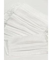 pack de tapabocas blanco donadonna termosellados tricapa de friselina x 10