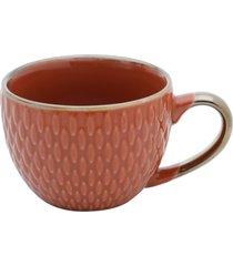 conjunto 6 xícaras de porcelana p/café sahali laranja 90ml