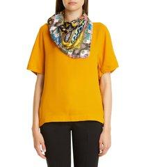 women's etro foulard reversible silk square scarf