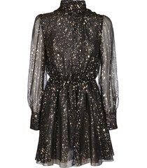 msgm black silk dress