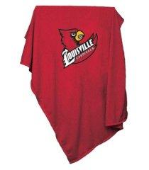 logo brands louisville cardinals sweatshirt blanket