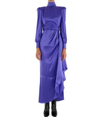 alessandra rich silk dress purple