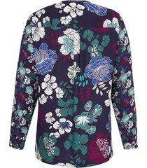 blouse met lange mouwen en korte knoopsluiting van anna aura multicolour