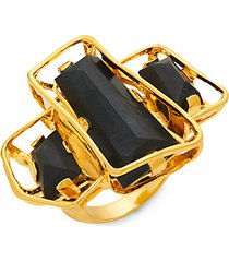 10k goldplated & lucite ring