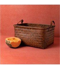 cesta montone cor: marrom - tamanho: único