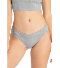 women's tavik ali bikini bottoms, size medium - grey