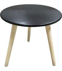 mesa lateral le retrô 39,5x39,5cm preta