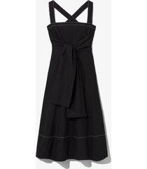 proenza schouler white label poplin apron dress black 8