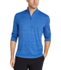 club room men's quarter-zip tech sweatshirt, created for macy's