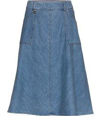 alice mistral skirt knälång kjol blå mos mosh